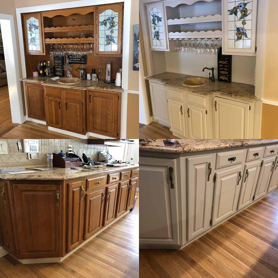 Kitchen cabinet refinishing Medfield MA - Idea Painting ...