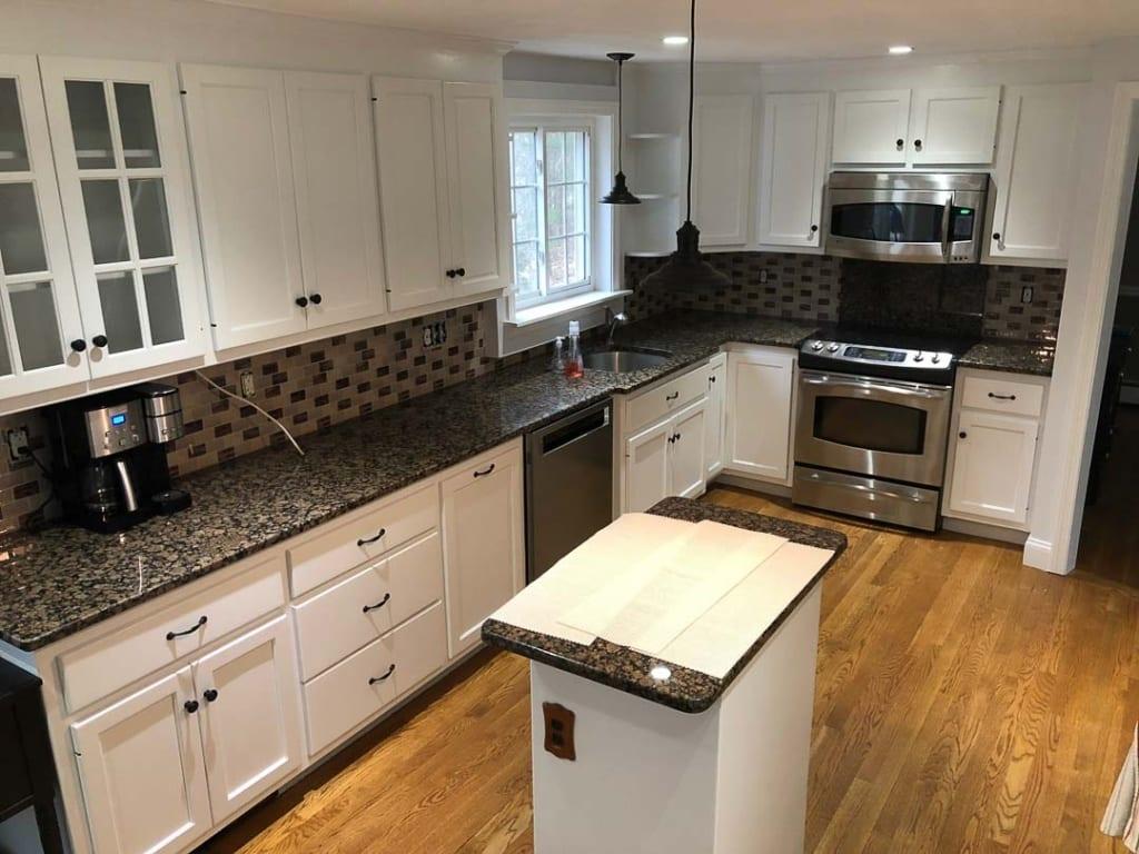 Kitchen cabinet refinishing Wellesley, MA - Idea Painting ...