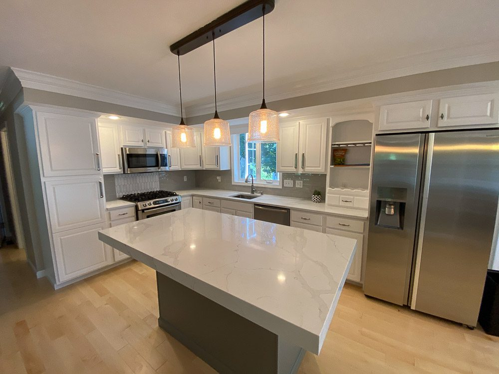 Kitchen cabinets painting — Needham,MA - Idea Painting Company